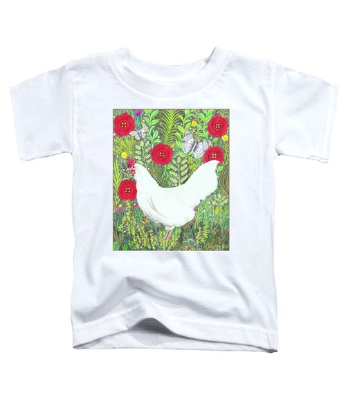Chicken With Millefleurs And Butterflies  Toddler T-Shirt