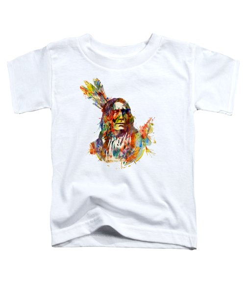 Chief Mojo Watercolor Toddler T-Shirt by Marian Voicu