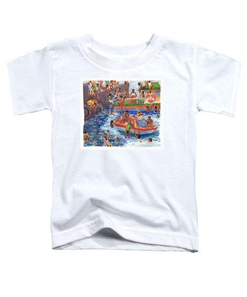 Children Playing At Avarua Wharf  Toddler T-Shirt