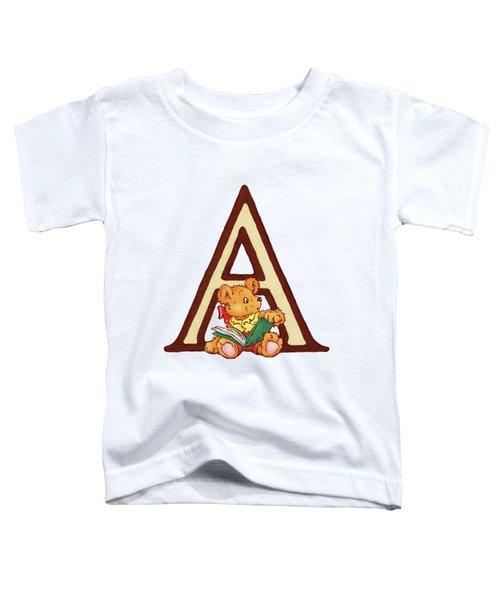 Children's Letter A Toddler T-Shirt by Andrea Richardson