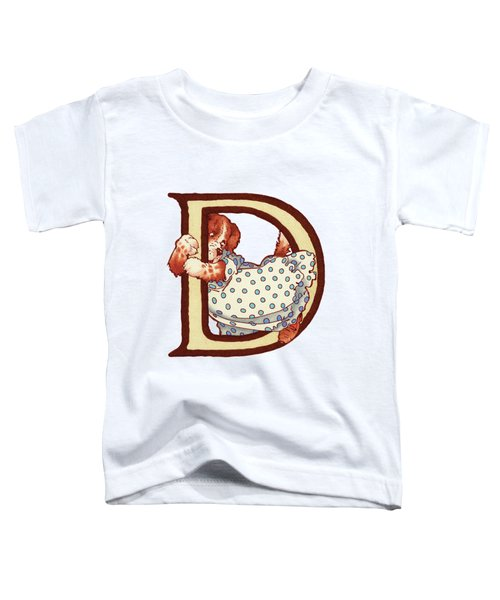 Children's Letter D Toddler T-Shirt by Andrea Richardson