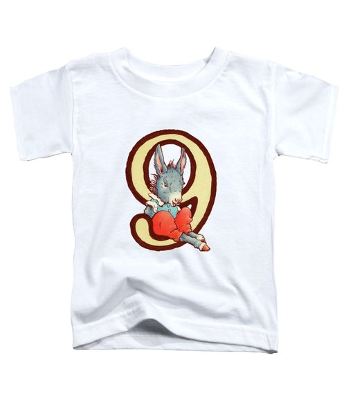 Children's Number 9 Toddler T-Shirt by Andrea Richardson