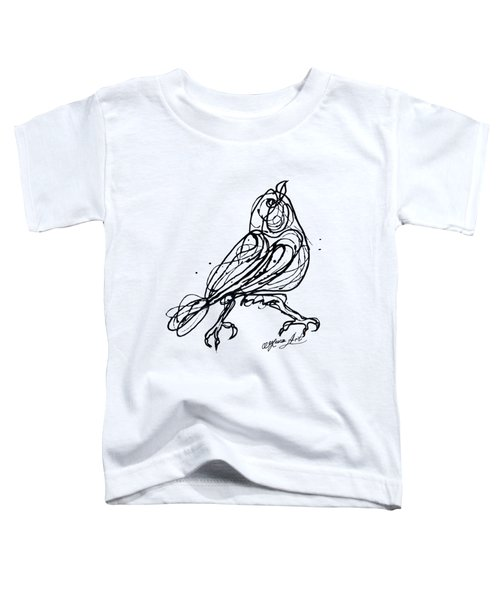 Chin Up Little Buttercup  Abstract Pollock Style On Paper Toddler T-Shirt