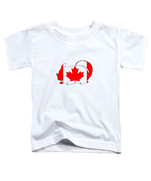Chinchilla Canada Toddler T-Shirt by Mordax Furittus