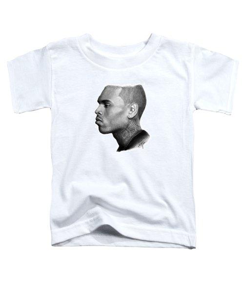 Chris Brown Drawing By Sofia Furniel Toddler T-Shirt