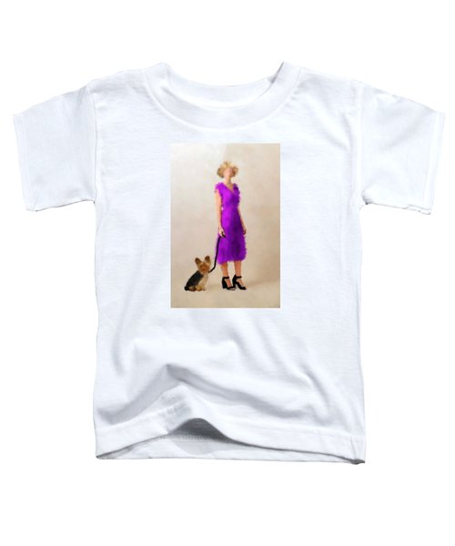 Toddler T-Shirt featuring the digital art Christina by Nancy Levan