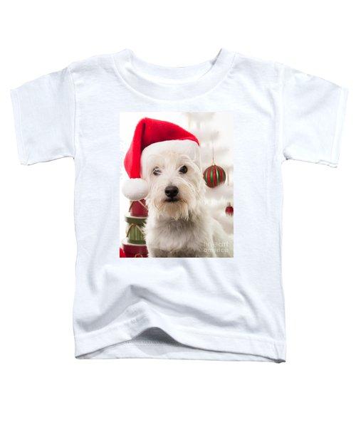 Christmas Elf Dog Toddler T-Shirt