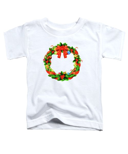 Christmas Wreath Toddler T-Shirt