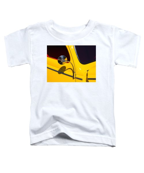 Chrome Mirrored To Yellow Toddler T-Shirt
