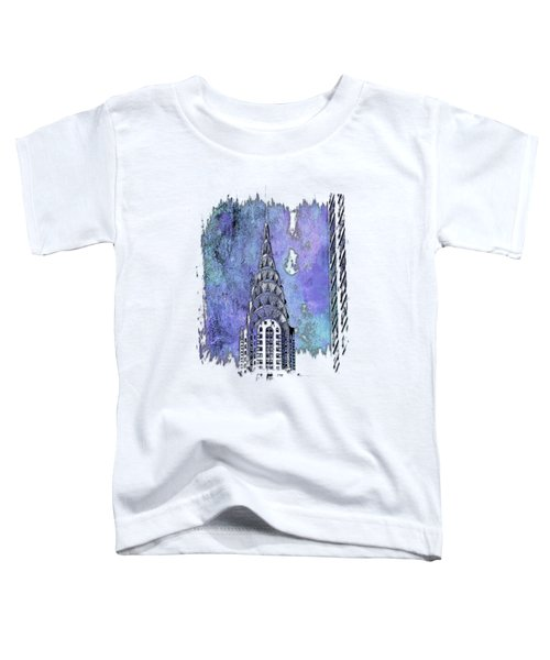 Chrysler Spire Berry Blues 3 Dimensional Toddler T-Shirt by Di Designs