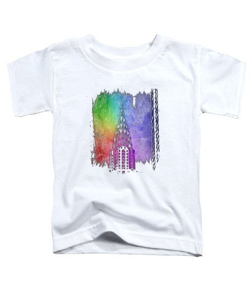 Chrysler Spire Cool Rainbow 3 Dimensional Toddler T-Shirt by Di Designs