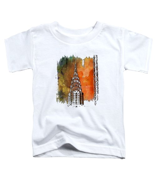 Chrysler Spire Earthy Rainbow 3 Dimensional Toddler T-Shirt by Di Designs