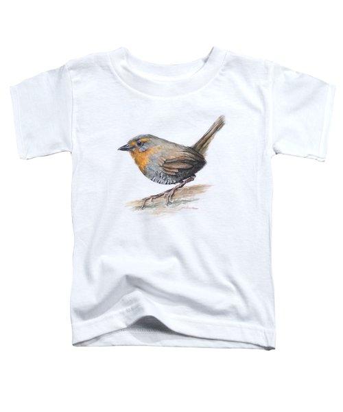 Chucao Tapaculo Watercolor Toddler T-Shirt