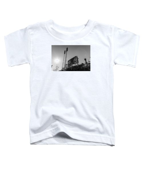 Cincinnati Reds Riverfront Stadium Black And White  Toddler T-Shirt