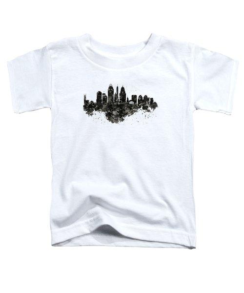 Cincinnati Skyline Black And White Toddler T-Shirt