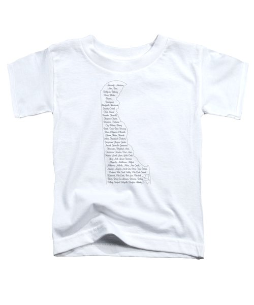 Cities And Towns In Delaware Black Toddler T-Shirt by Custom Home Fashions