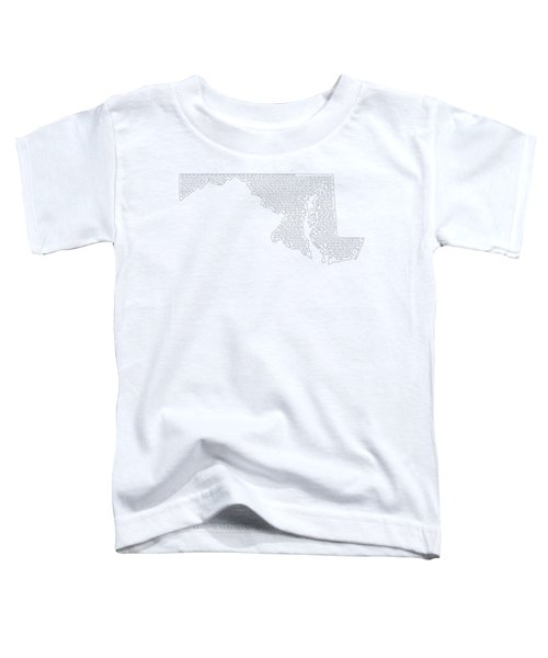 Cities And Towns In Maryland Black Toddler T-Shirt by Custom Home Fashions