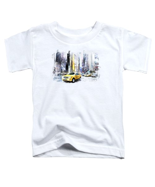 City-art Times Square II Toddler T-Shirt by Melanie Viola