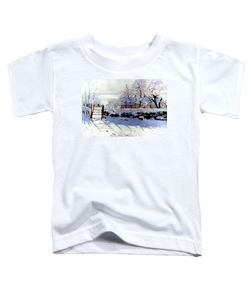 Claude Monet The Magpie - To License For Professional Use Visit Granger.com Toddler T-Shirt