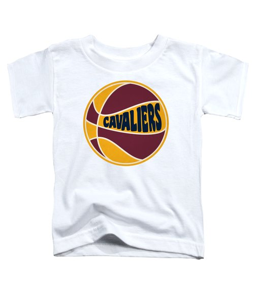 Cleveland Cavaliers Retro Shirt Toddler T-Shirt by Joe Hamilton