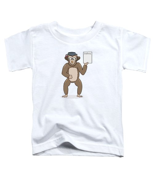 Clever Monkey With Diploma Toddler T-Shirt