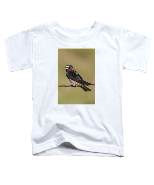 Toddler T-Shirt featuring the photograph Cliff Swallow by Gary Lengyel
