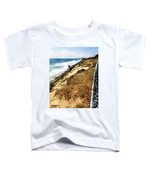 Cliff View - Carlsbad Ponto Beach Toddler T-Shirt