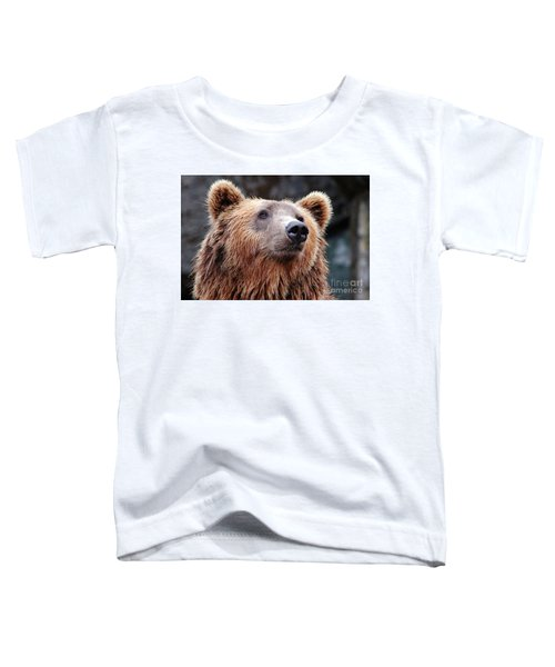 Toddler T-Shirt featuring the photograph Close Up Bear by MGL Meiklejohn Graphics Licensing