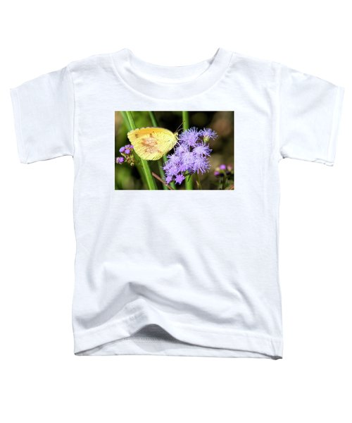 Cloudless Sulfur Butterfly On Ageratum Wildflower Toddler T-Shirt