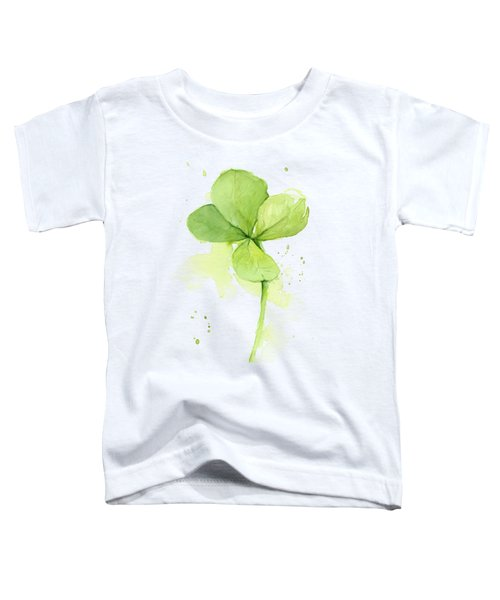 Clover Watercolor Toddler T-Shirt