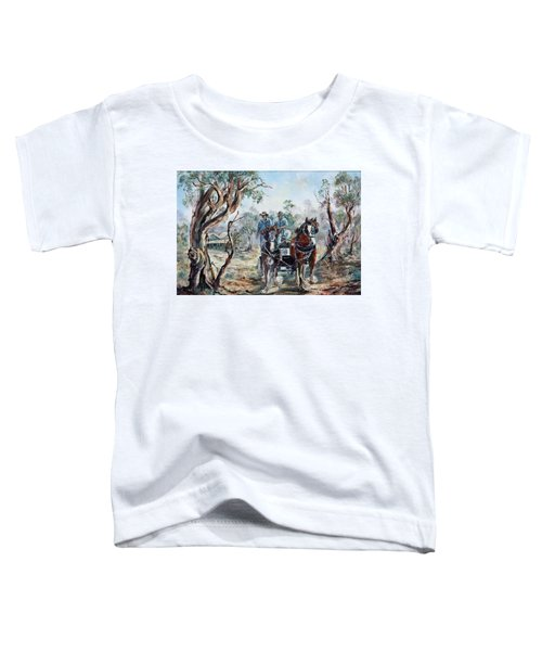 Clydesdales And Cart Toddler T-Shirt