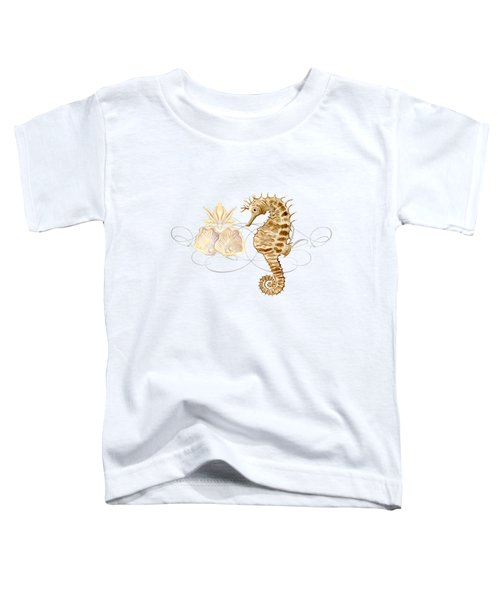 Coastal Waterways - Seahorse Rectangle 2 Toddler T-Shirt by Audrey Jeanne Roberts