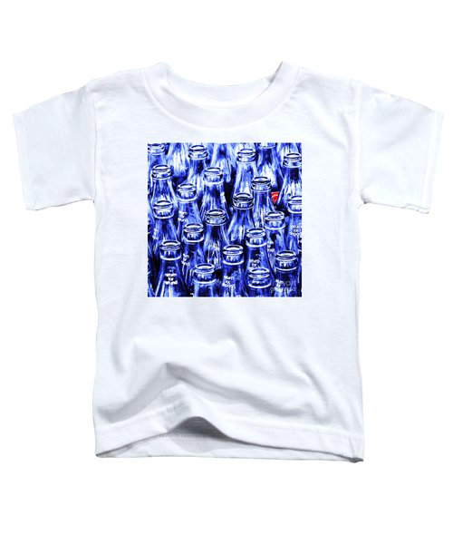 Coca-cola Coke Bottles - Return For Refund - Square - Painterly - Blue Toddler T-Shirt