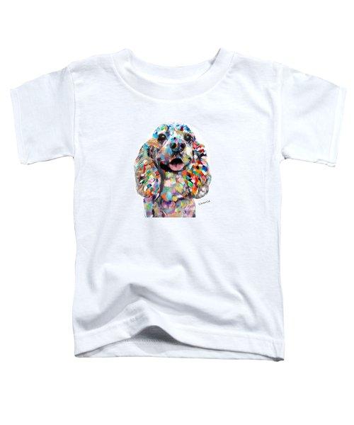 Cocker Spaniel Head Toddler T-Shirt