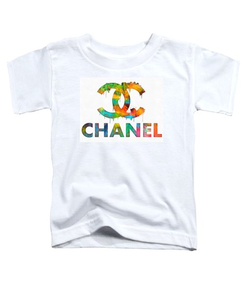 Coco Chanel Paint Splatter Color Toddler T-Shirt