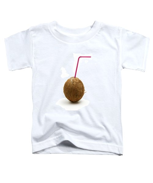 Coconut With A Straw Toddler T-Shirt