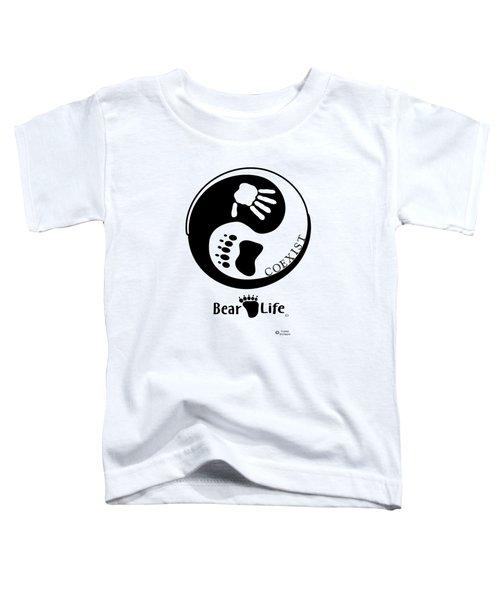Coexist-yin Yang Bear Life Toddler T-Shirt