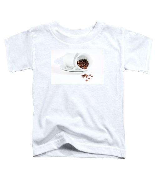 Coffee Cups And Coffee Beans  Toddler T-Shirt