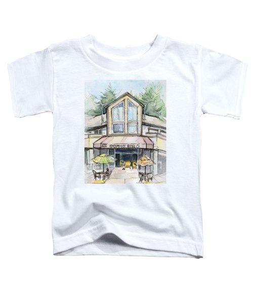 Coffee Shop Watercolor Sketch Toddler T-Shirt by Olga Shvartsur