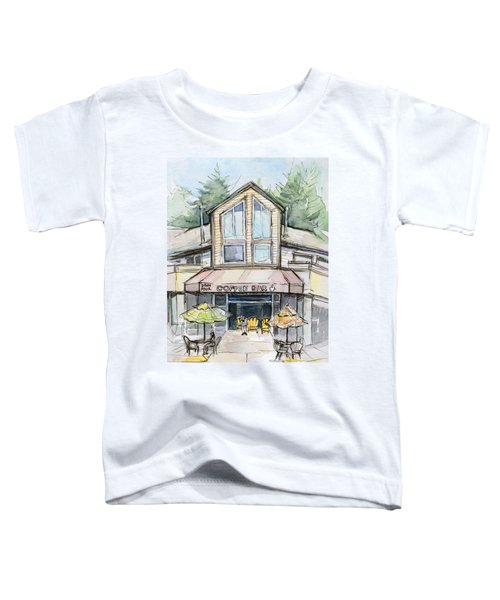 Coffee Shop Watercolor Sketch Toddler T-Shirt