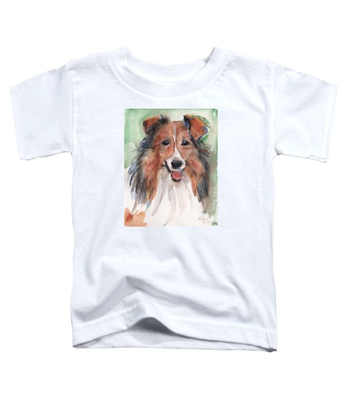 Collie, Shetland Sheepdog Toddler T-Shirt by Maria's Watercolor