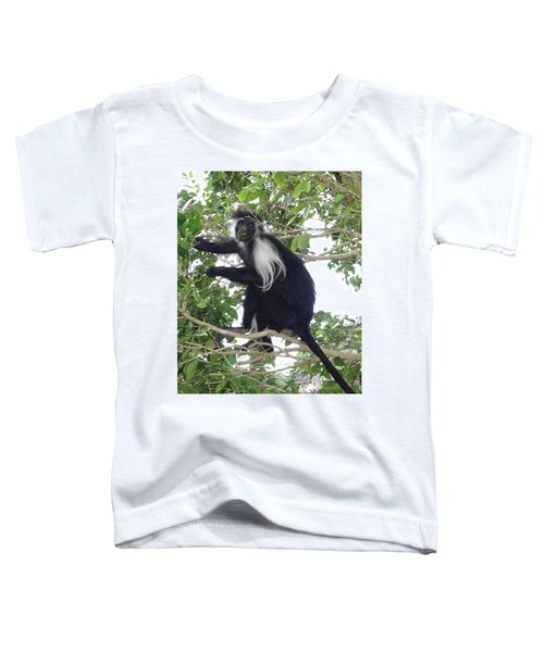 Colobus Monkey Eating Leaves In A Tree Toddler T-Shirt
