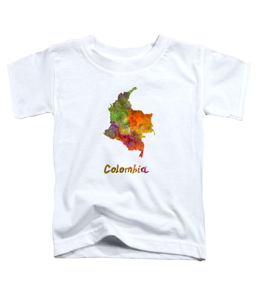 Colombia In Watercolor Toddler T-Shirt