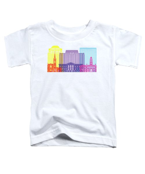 Colorado Springs_v2 Skyline Pop Toddler T-Shirt
