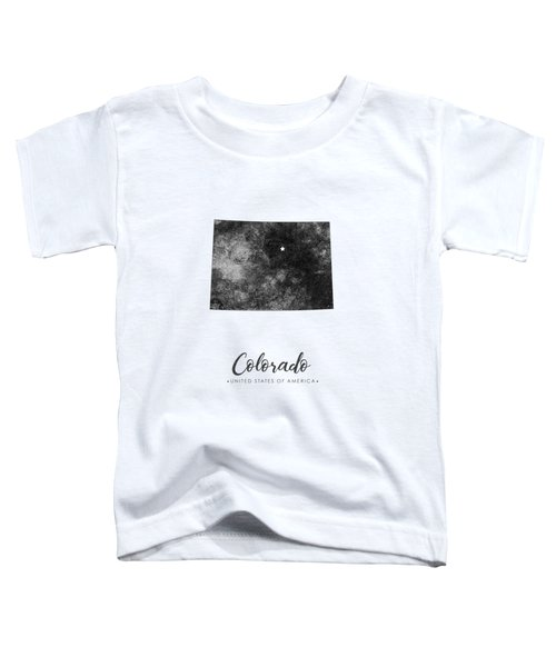 Colorado State Map Art - Grunge Silhouette Toddler T-Shirt