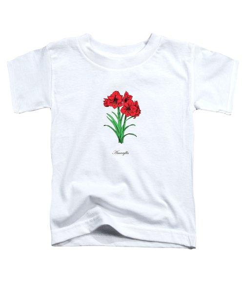 Colored Amaryllis. Botanical Toddler T-Shirt