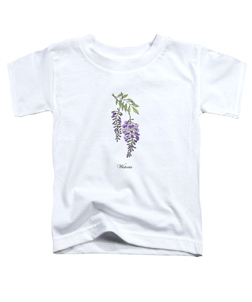 Colored Wisteria. Botanical Toddler T-Shirt