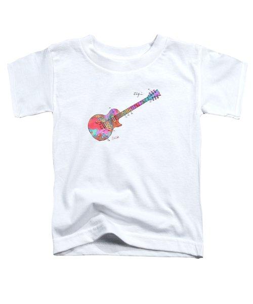 Colorful 1955 Mccarty Gibson Les Paul Guitar Patent Artwork Mini Toddler T-Shirt