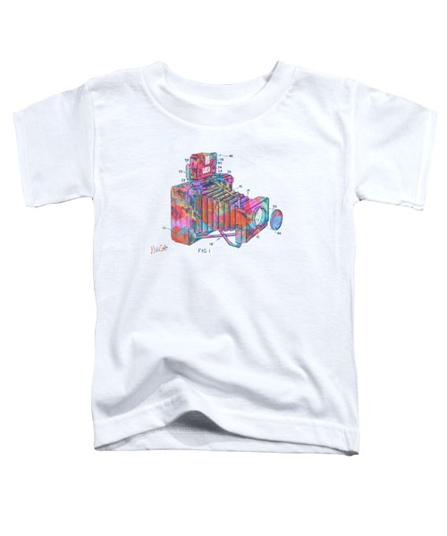 Colorful 1966 Photographic Camera Accessory Patent Minimal Toddler T-Shirt