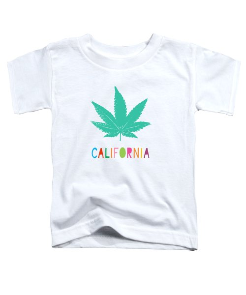 Colorful California Cannabis- Art By Linda Woods Toddler T-Shirt